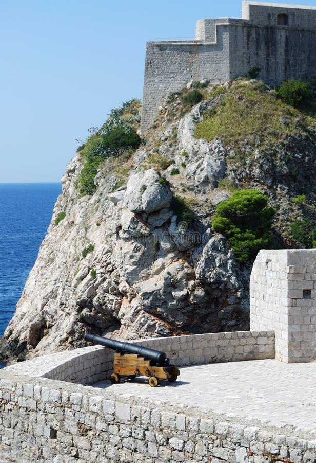 Dubrovnik. Croatia, Southern Dalmatia, View of the Dubrovnik fortress stock photos