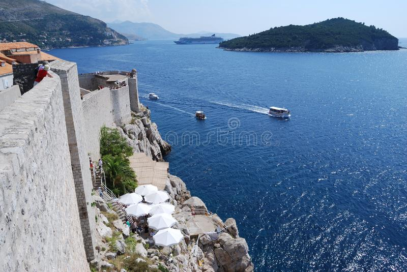 Dubrovnik. Croatia, Southern Dalmatia, View of the Dubrovnik fortress royalty free stock images