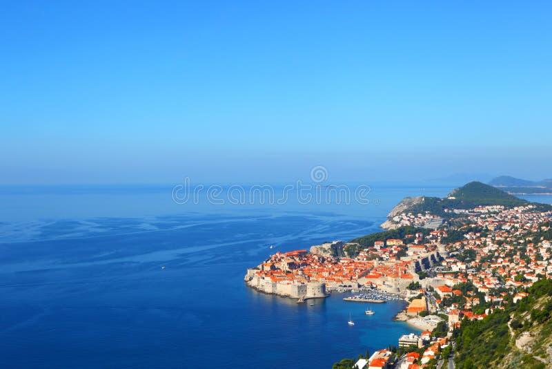 dubrovnik croatia Top beskådar fotografering för bildbyråer