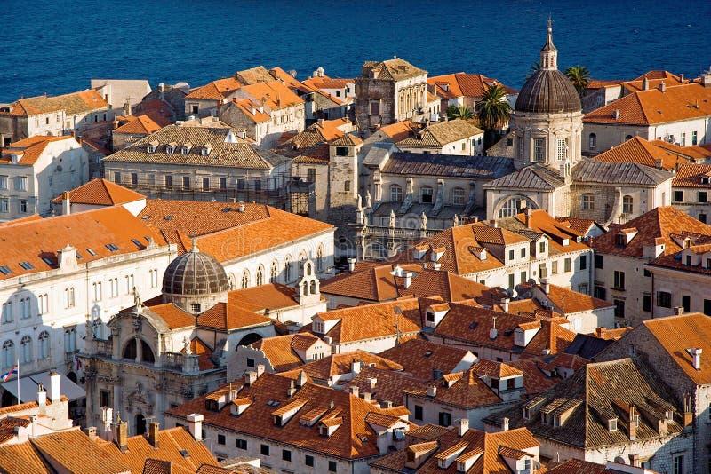 Dubrovnik-Dächer stockbild