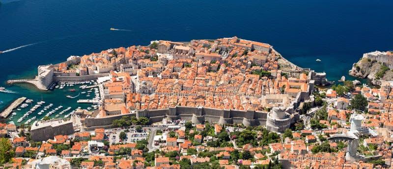 Dubrovnik da sopra immagini stock