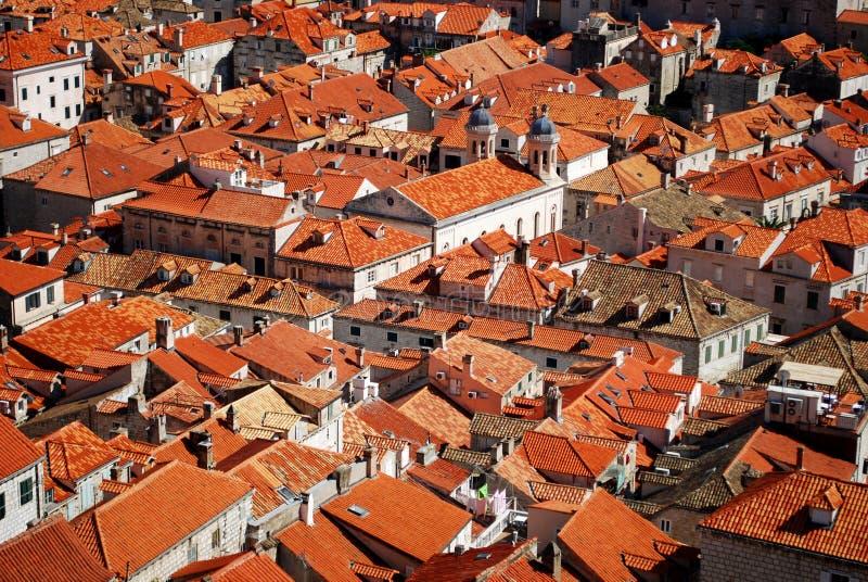 Dubrovnik-Dachspitzen lizenzfreies stockfoto