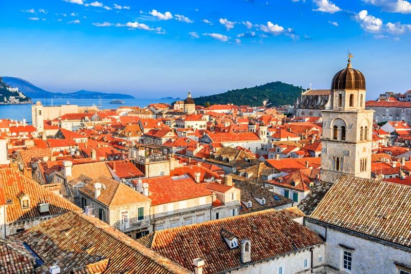 Dubrovnik, Dalmacia, Croacia imagen de archivo libre de regalías