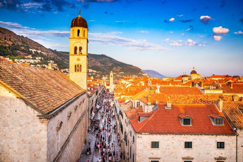 Dubrovnik, Dalmatie, Croatie images libres de droits