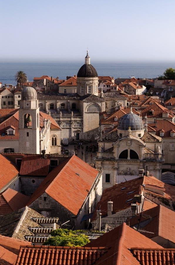 Dubrovnik das paredes fotografia de stock royalty free