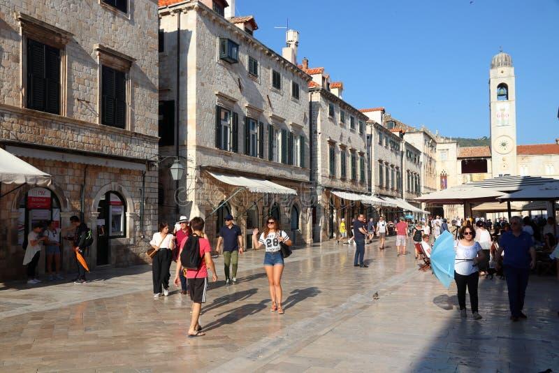 Dubrovnik-Einkaufsstraße stockfotos