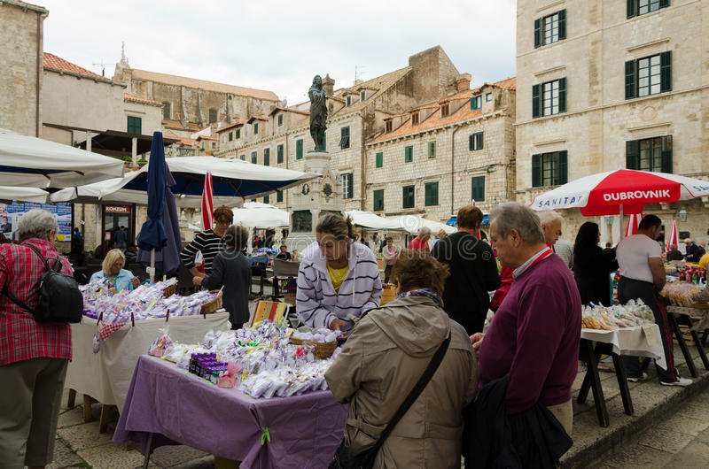 Dubrovnik, el mercado fotos de archivo libres de regalías