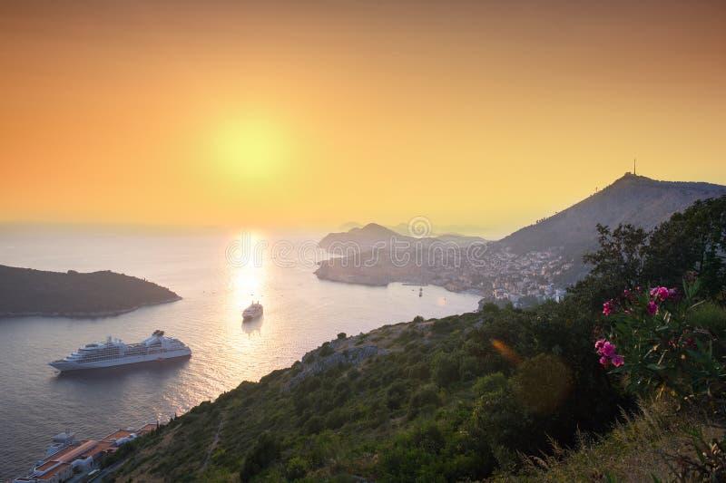 Dubrovnik en Croacia fotografía de archivo libre de regalías