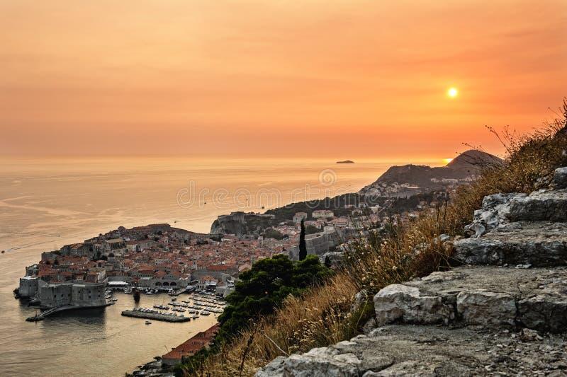 Dubrovnik en Croatia foto de archivo