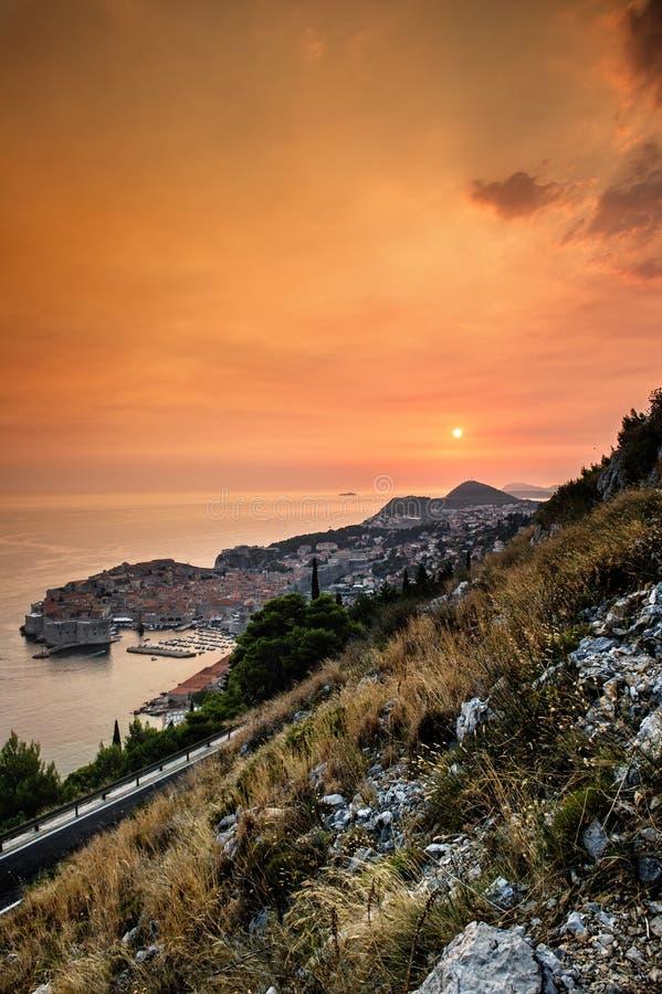 Dubrovnik en Croatia imagen de archivo