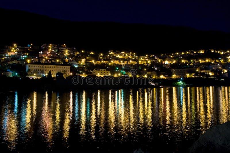 Dubrovnik en la noche imágenes de archivo libres de regalías