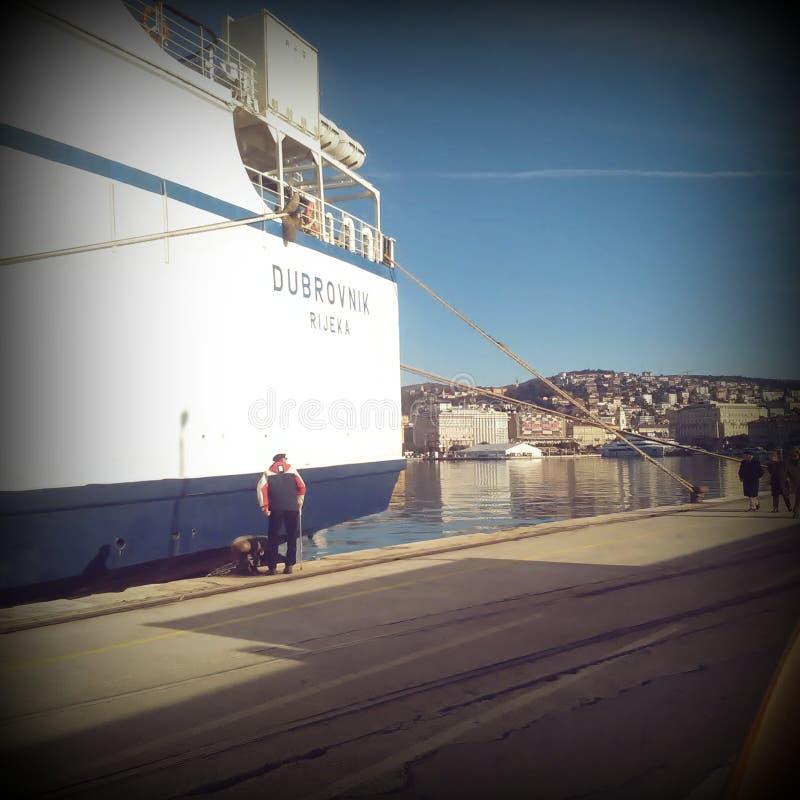 Dubrovnik fartyg royaltyfria foton