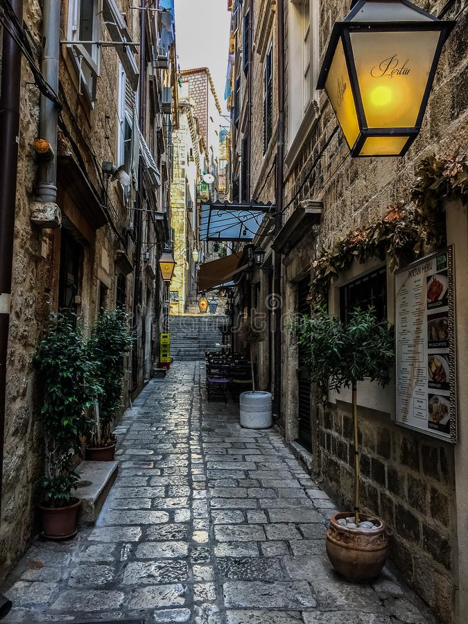 Dubrovnik gata - Kroatien royaltyfri foto