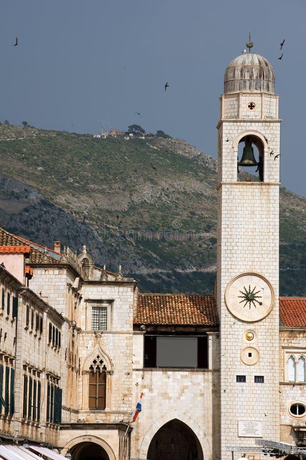 Dubrovnik-Glockenturm stockbild
