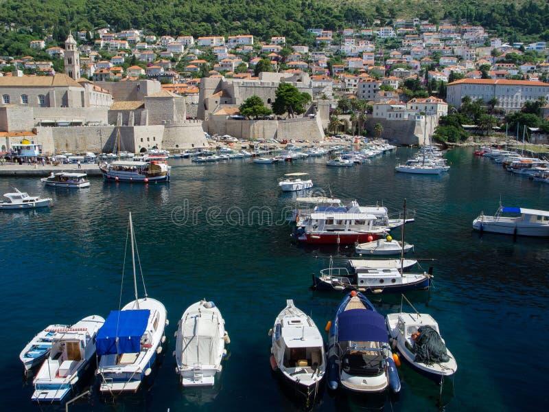 Dubrovnik-Hafen lizenzfreies stockbild