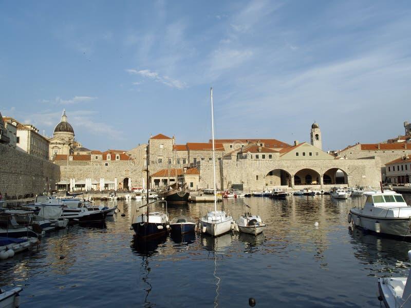 Dubrovnik harbor at dawn