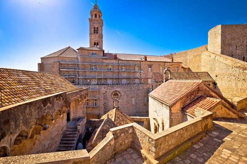 Dubrovnik historic architecture view fron city walls stock images