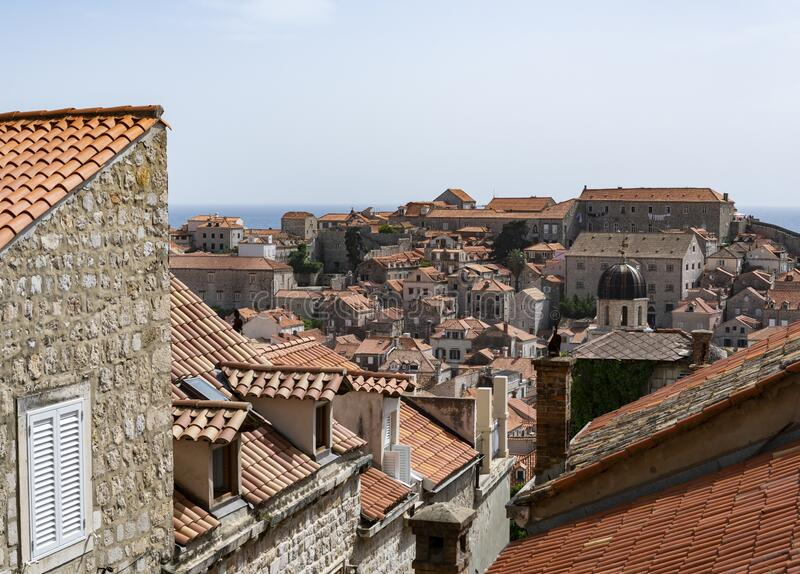 Dubrovnik Houses And Roofs royalty free stock images