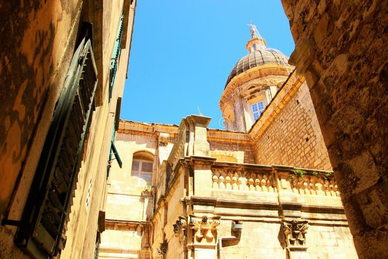 Dubrovnik-Kathedrale stockfotos