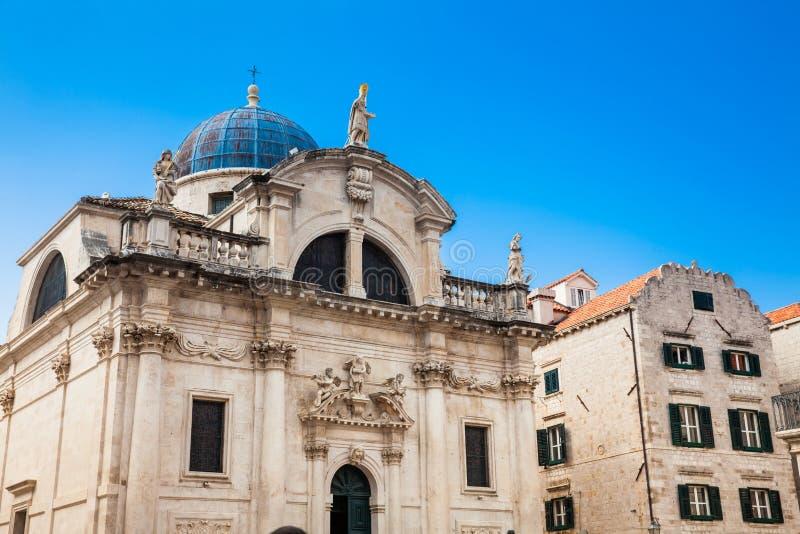 Dubrovnik-Kathedrale an einem sch?nen Vorfr?hlingstag stockfoto