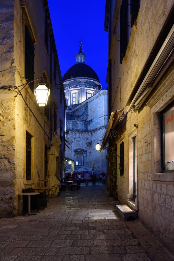 DUBROVNIK KROATIEN - Dubrovnik gammal stad fotografering för bildbyråer