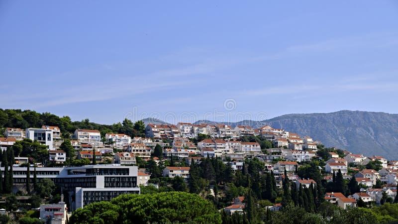 Dubrovnik, Kroatische skyline royalty-vrije stock foto's