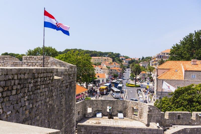 Dubrovnik - la perla de la costa adriática imagen de archivo