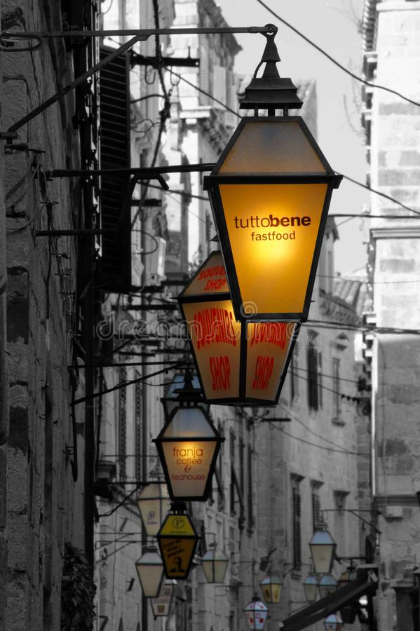 Free Dubrovnik Lights Royalty Free Stock Image - 107143646