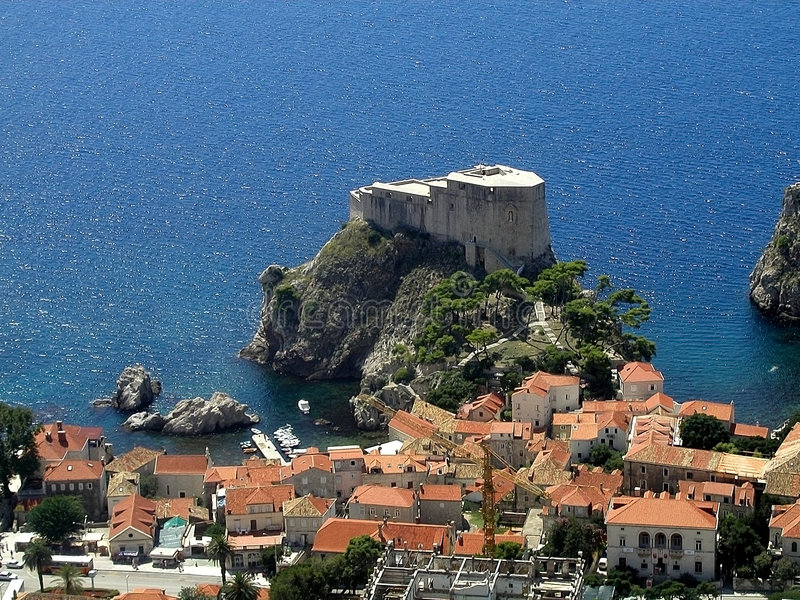 Dubrovnik - Lovrijenac - Croat fotografia stock
