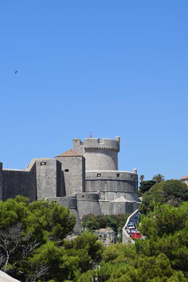 Dubrovnik miasta ściany fort fotografia royalty free