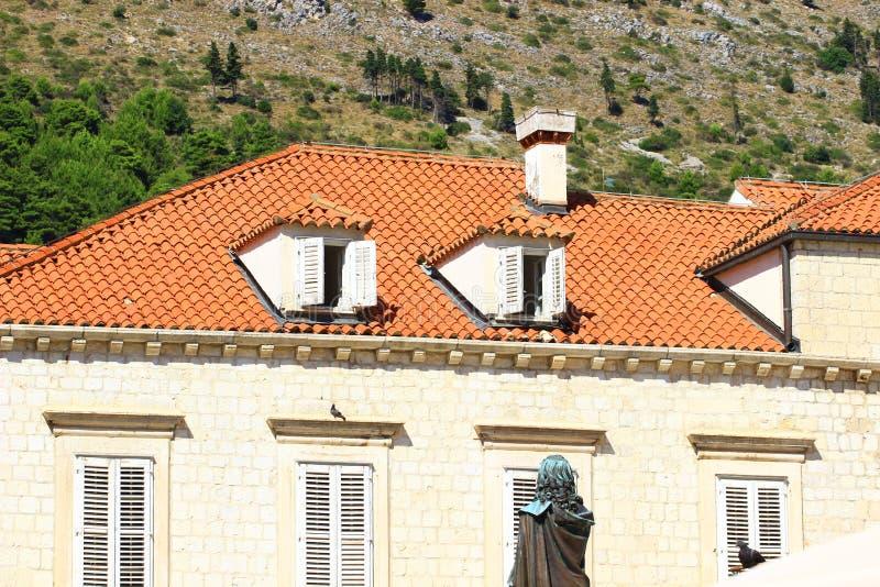 Dubrovnik na Croácia, detalhes da arquitetura imagem de stock