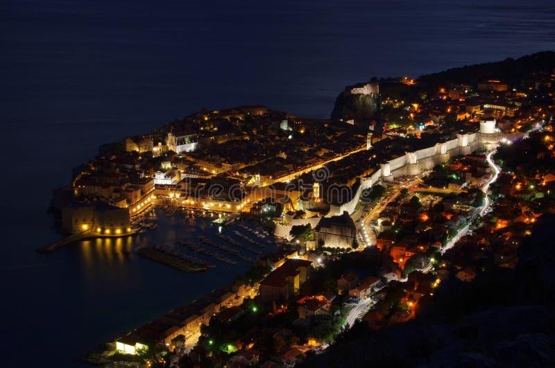 Dubrovnik-Nacht stockfotos