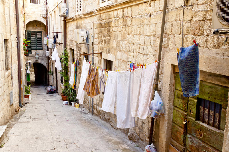 Dubrovnik - narrow city street royalty free stock images