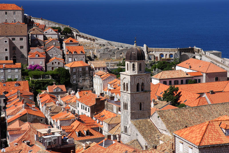 Download Dubrovnik old town stock photo. Image of heritage, above - 20684278