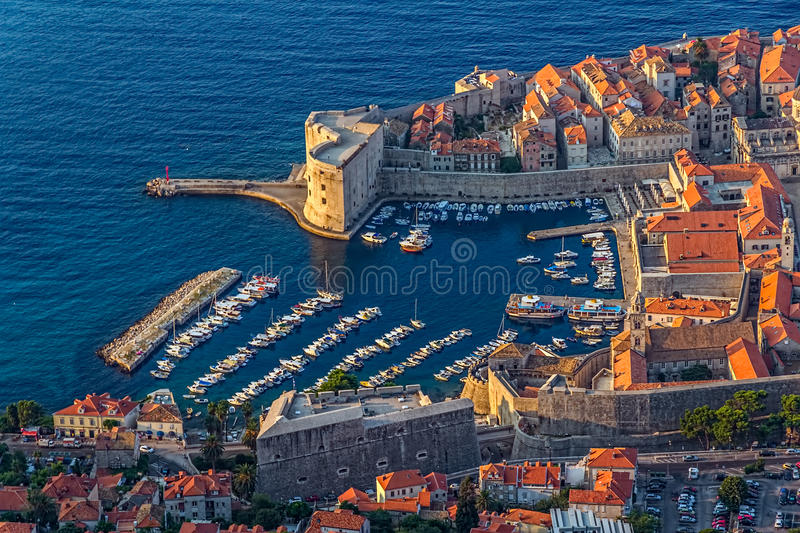 Download Dubrovnik old town stock photo. Image of fortification - 28226516