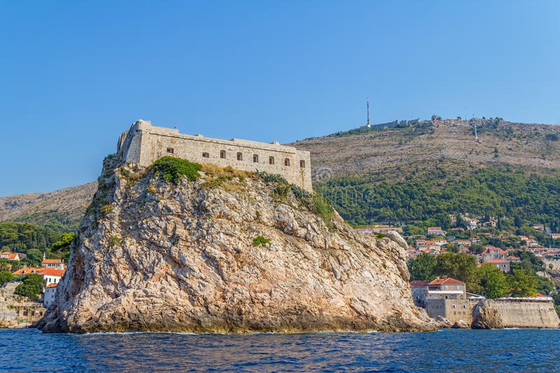 Download Dubrovnik old town stock image. Image of cliff, landscape - 28226853