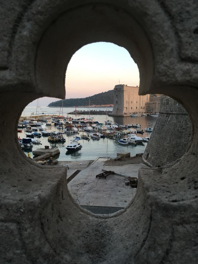 Dubrovnik. Is the old town in Croatia royalty free stock image