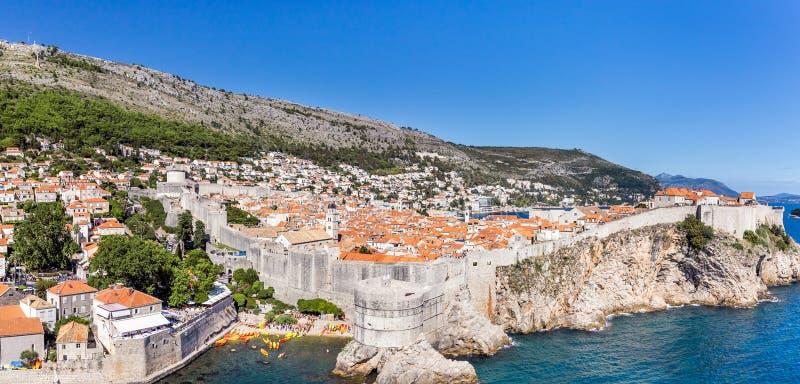 Dubrovnik old town panorama, Croatia stock image
