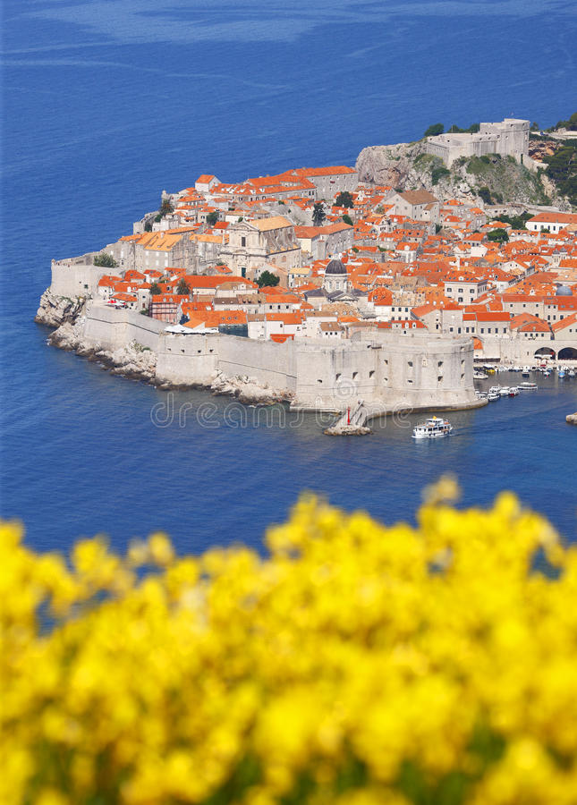 Dubrovnik. Old town in the spring royalty free stock photos