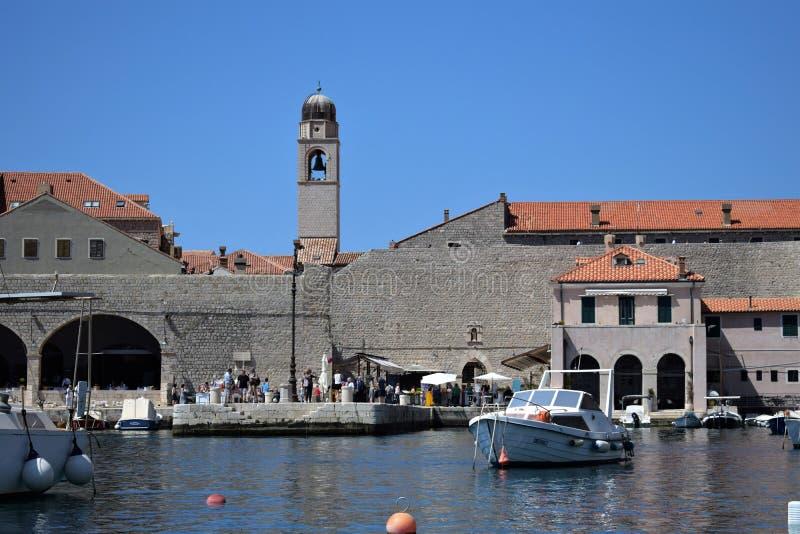 Dubrovnik oude haven, Kroatië royalty-vrije stock afbeeldingen