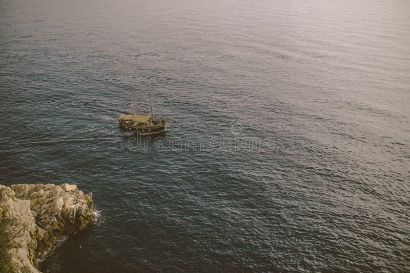Dubrovnik overzeese voorzijde stock afbeelding