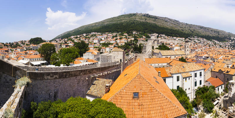 Dubrovnik - a pérola da costa adriático imagens de stock royalty free