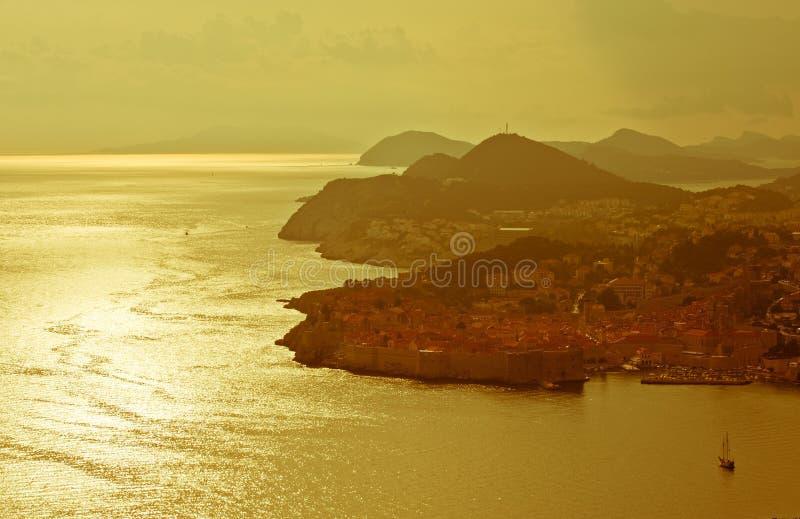 Dubrovnik-Panorama lizenzfreie stockbilder
