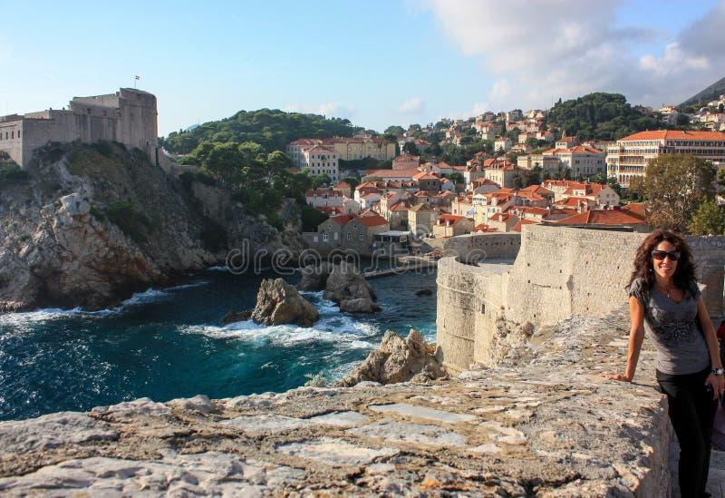 Dubrovnik par la mer photographie stock