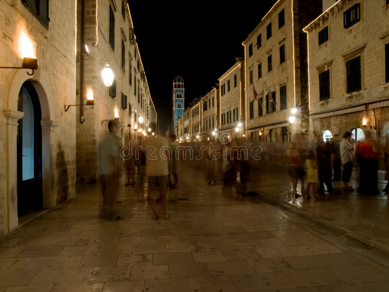 dubrovnik plaza royaltyfria foton