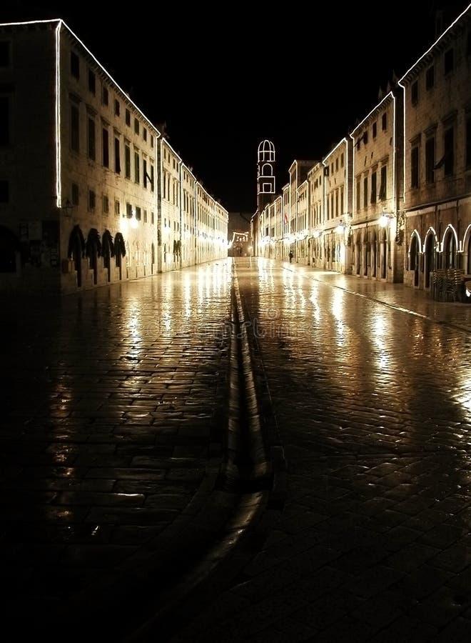 Dubrovnik - plaza - Stradun -   fotografie stock