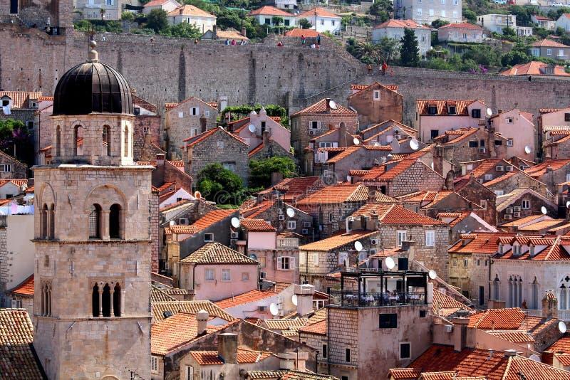 Dubrovnik pomarańcze dachy zdjęcia stock