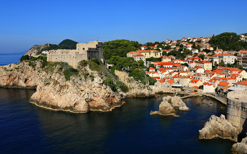 Dubrovnik. Is a popular tourist destination blessed by an abundance of sunshine and scenic beauty stock photo
