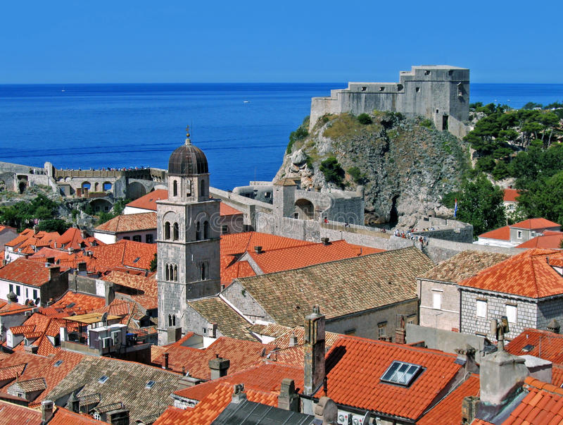 Dubrovnik rooftops royalty free stock photos