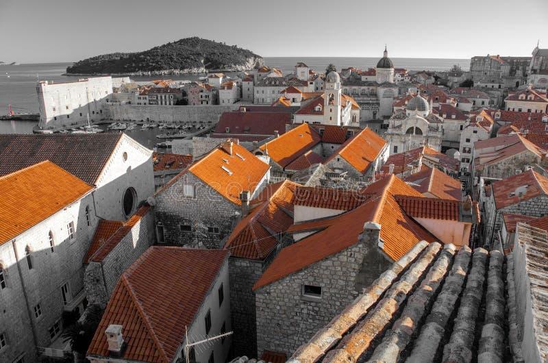 Dubrovnik Rooftops Stock Images